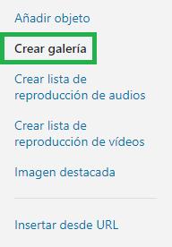 Crear Galeria
