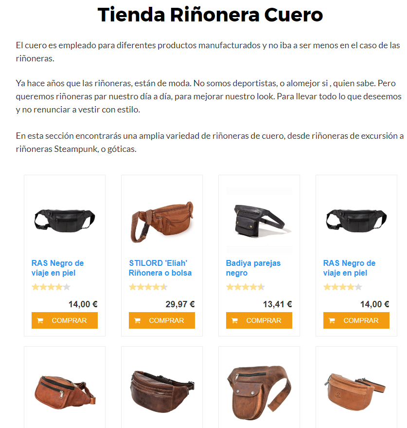 Productos amazon wordpres