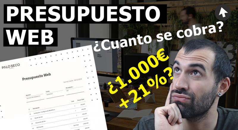 ejemplo presupuesto pagina web wordpress