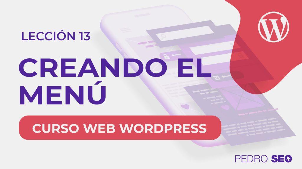crear un menu en wordpress