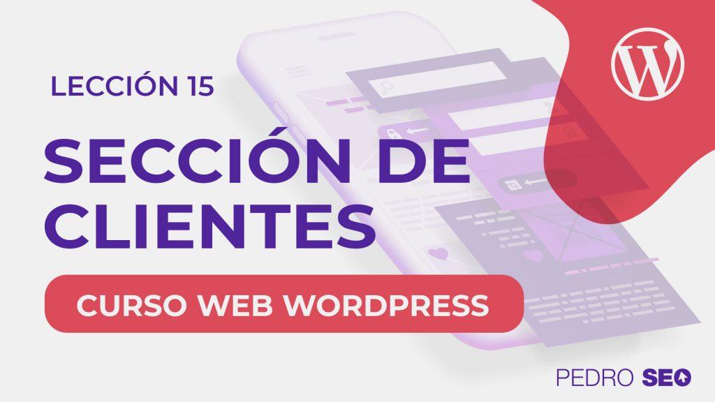 seccion clientes en wordpress