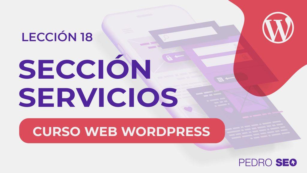 seccion servicios wordpress
