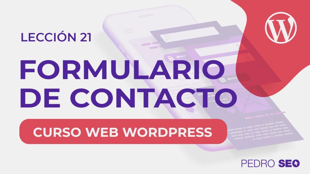 crear contacto y formulario