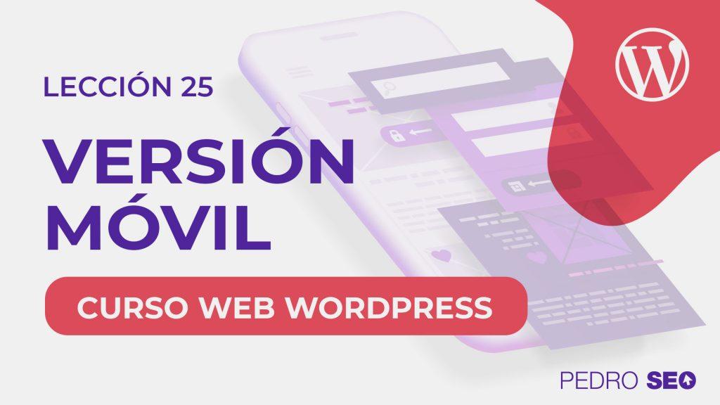version movil wordpress y elementor