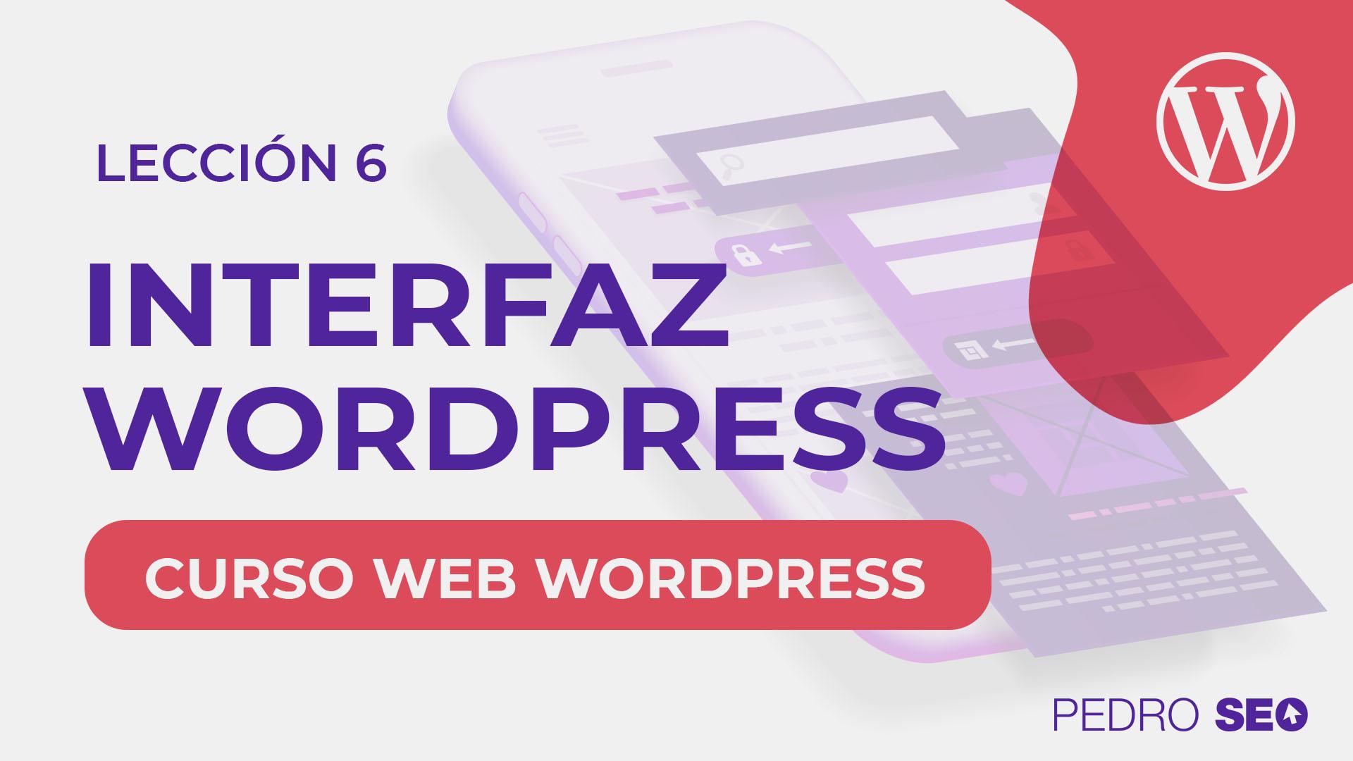 interfaz de wordpress